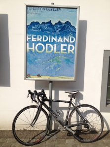 my roadbike at the entry to the Hodler exhibit